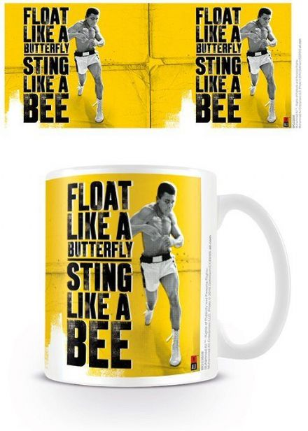 Muhammad Ali Float like a butterfly sting like a bee mug